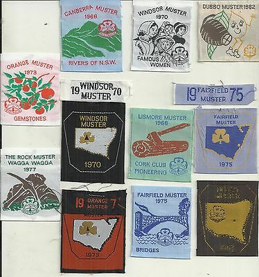 VINTAGE 1970's GIRL GUIDES AUSTRALIAN MUSTER PATCH COLLECTION