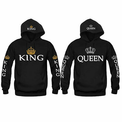 KING AND QUEEN Sweater Casual Loose-Love Matching Hooded-Couple Hoodie