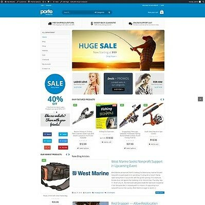 Fishing Supplies - Established Automated eCommerce Website