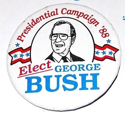 1988 GEORGE H.W. BUSH campaign pin pinback button political president election