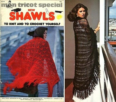 Shawls To Knit And Crochet - Retro 1975 Craft Book
