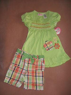 Nwt ~ Girl's Size 6 ~ 2-Piece Summer Burmuda Shorts Set, Outfit ~ Cute!