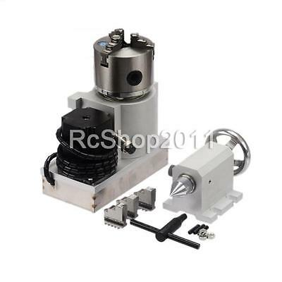 CNC Router Rotational Rotary Axi A-axis  4th-axis 3-Jaw and Tail stock UK
