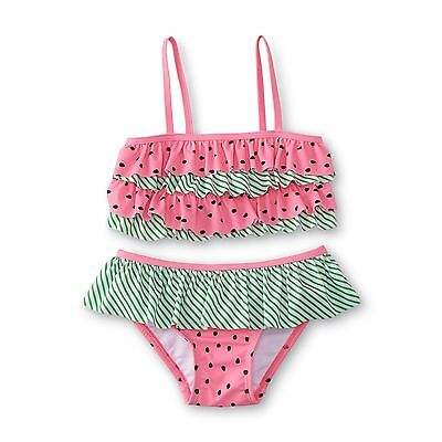 WonderKids Toddler Girl's Watermelon Ruffles 2-Piece Bikini Swimsuit ~ Pick Size
