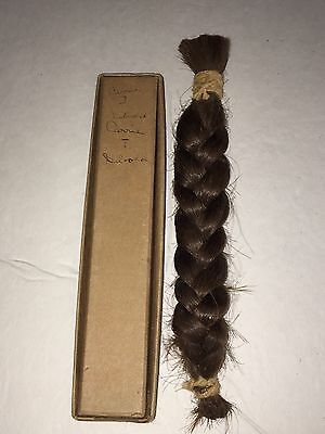 """Victorian Antique Braided Human 7.5"""" Carefully Stored in Box for Many Years"""