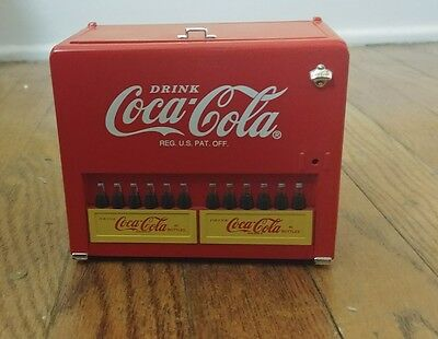 1997 COCA-COLA Die-Cast Metal MUSICAL SLIDER BANK Things Go Better With Coke