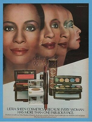 1979 Ultra Sheen Makeup Cosmetics Beauty African American Black Photo Print Ad