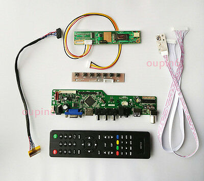 TV T.VST56 HDMI RF CVBS VGA Controller board Kit for LTN190W1-L02 1680X1050