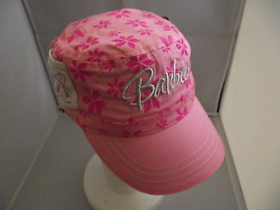 New with tags girls genuine Barbie flower sun beach pool play pink cap hat