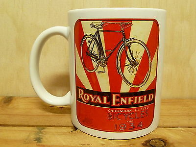 300ml COFFEE MUG, ROYAL ENFIELD BICYCLES FOR 1934