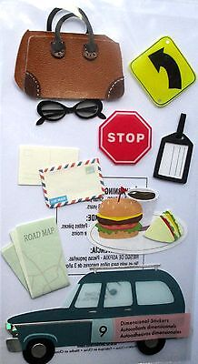 JOLEE'S BOUTIQUE LE GRANDE ROAD TRIP Travel Map Scrapbook Sticker Embellishment