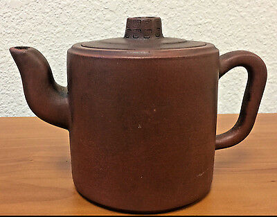 Antique Chinese Yixing Clay Teapot with Mark Beautiful Design