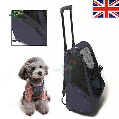 Pet Trolley Bag - Large Backpack & Carry Bag For Carrying A Small Dog / Cat Blue