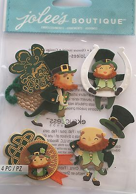 JOLEE'S BOUTIQUE LEPRECHAUNS Luck Irish Scrapbook Sticker Craft Embellishment