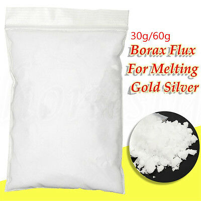 30/60g Borax Powder Anhydrous Metal Casting Melting Flux Gold Assay Forging Flux