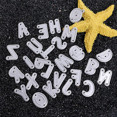 Metal Alphabet Letter A-Z Cutting Dies Stencil Scrapbooking Paper Card DIY Craft