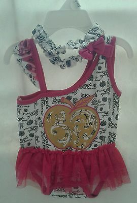 "Apple Bottoms Baby Girls' ""Gilded Apple"" 2-Piece Outfit Size 0-3 Months"