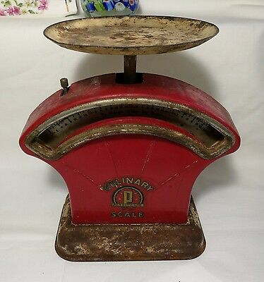 Collectable old culinary persinware 4lbs Red scale