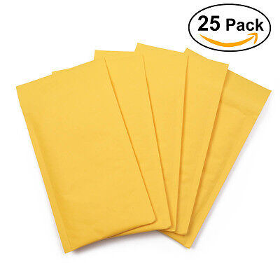 25pcs #5 10.5x16 Kraft Bubble Mailers Padded Envelope Shipping Supply Bags