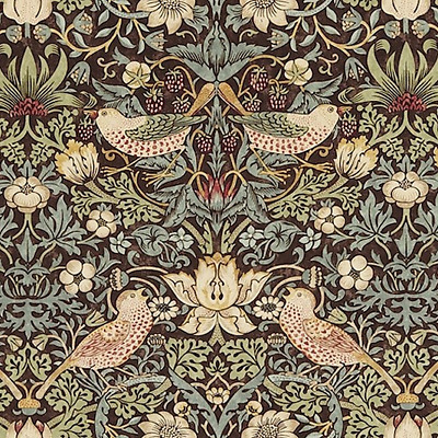 2 Roll Bundle 212565 William Morris STRAWBERRY THIEF Brown Wallpaper