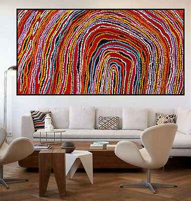 Huge 130cm by 70cm contemporary abstract dot painting by Anna Narnina