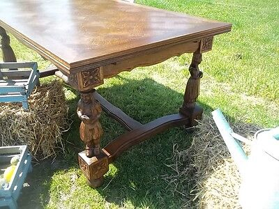 Fabulous French Antique  Provincial Oak Extending Breton Dining Table