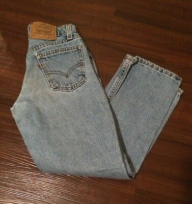 Vintage 90s Levi's 562 Girls High Waist Loose Fit Straight Leg Jeans size 9 USA