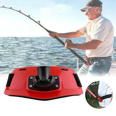 ABS Plastic Red Stand Up Fishing Waist Gimbal Pad Fish Belt Rod Pole Holder Hot