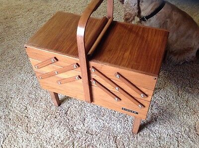 singer sewing machine wooden sewing box