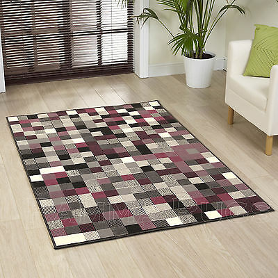 New Small Large Extra Large Black Purple Rugs Pixel Design Rugs For Sale Online!