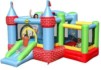 Duplay 11ft x 10ft Farmyard Bouncy Castle with Slide and Ballpool Pit 9112