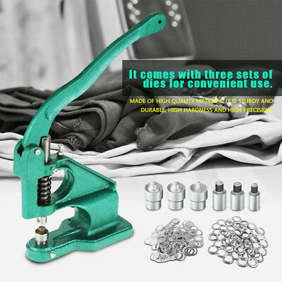 Eyelet Punch Machine Presser Set Metal Eyelets Die Grommets Banner Hole Tool Kit