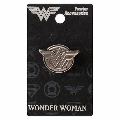 Wonder Woman New * Logo Lapel Pin * Pewter Accessory Charm Pin Back Licensed