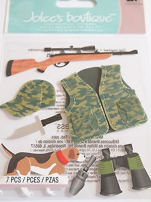 JOLEE'S BOUTIQUE HUNTER Hunting Hound Scrapbook Craft Sticker Embellishment