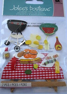 JOLEE'S BOUTIQUE PICNIC TIME BBQ Food Eat Scrapbook Craft Sticker Embellishment