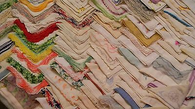 Vtg. Lot Hankies - Well Over 120 !! - Floral,tatting, Names, Initials - Wow!!!
