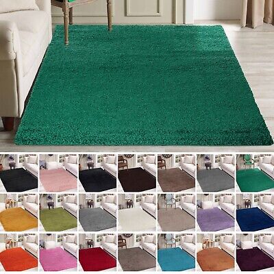 Modern Plain Design Small - Large Living Room Area Soft Touch Thick Shaggy Rug