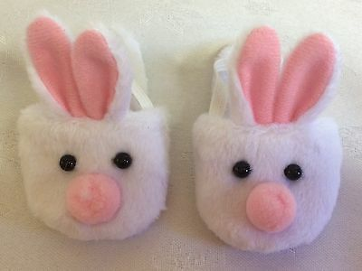 "Handmade Dolls Clothes To Fit 17"" Baby Born -  White Rabbit Slippers"