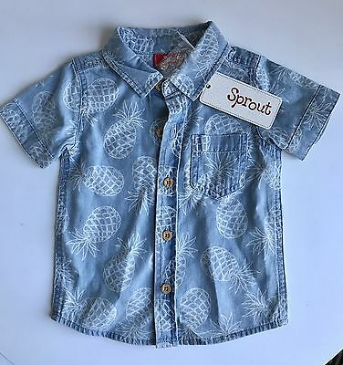 Sprout Denim Shirt Toddler Baby Boy Size 0