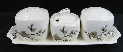 Stylecraft By Midwinter Cream Floral Patterned 4 Piece Cruet Set