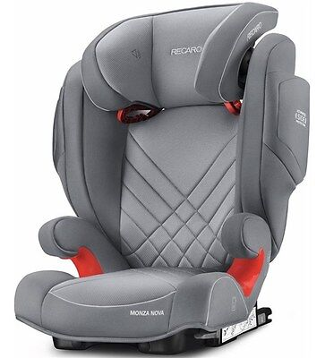 Recaro Monza Nova 2 Seatfix Isofix Group 2 & 3 Child's Car Seat - Aluminium Grey