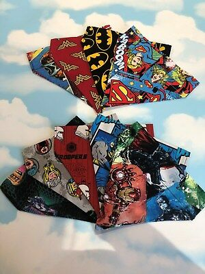 Marvel handmade Dog Bandana - neckerchief - Collar - Lead Retro comic, Batman