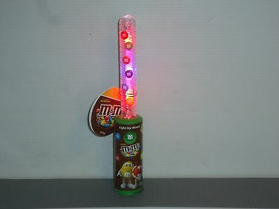 MM184 Collectable M&M'S Green Light Up Wand RARE 2016 New