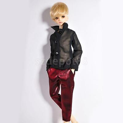 BJD Doll Clothes Wine Red Casual Pants for 1/4 SD DD AS DOD DOA LUTS Dollfie