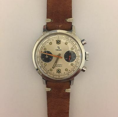 Vintage Yema Pandal Dial Chrono with Valjoux 7733 Manual Wind Movement