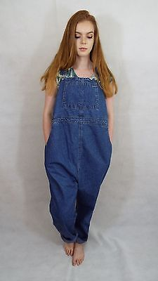 Maternity Dungarees Size 18 L30 Denim Overalls Blue Jumpsuit Overalls Motherhood