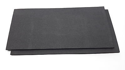 Fly tying foam Craft foam MET BLACK 2 PACK 2mm EVA Foam 10x20cm sheets 2 pack