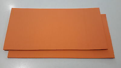 Fly tying foam Craft foam SHRIMP ORANGE 2 PACK 2mm EVA  10x20cm sheets 2 pack