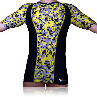 Full Force Wear, Compression Kurzarmshirt, camo gelb