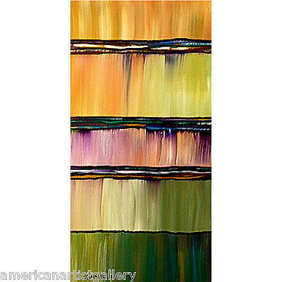 ABSTRACT ORIGINAL Painting Impasto Huge Vertical 24X48 Modern Art By Thomas John